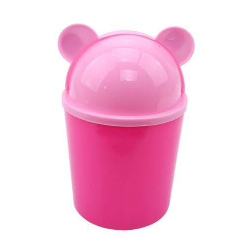 Clean Trash Waste Bins Household Can Mini Desktop Desk With Lid Small Q