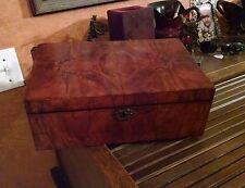 Walnut Burlwood Box with interior compartments