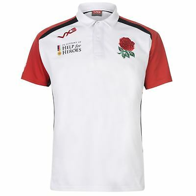 VX-3 Mens Help for Heroes England 2018//19 Rugby Polo Shirt T-Shirt Top White
