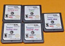 5 Imagine Games: Movie Star, Balllet, Fashion, Rock Star Nintendo DS DS Lite 3DS