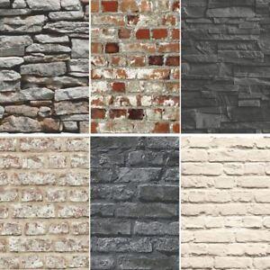 New Brick Effect Faux Realistic Brick Stone Wall Pattern