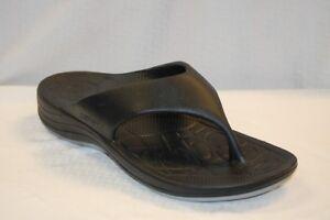 Aetrex-L3000M-Men-039-s-Lynco-Flips-Sandals-2-Black-2-charcoal-1-navy-size-9