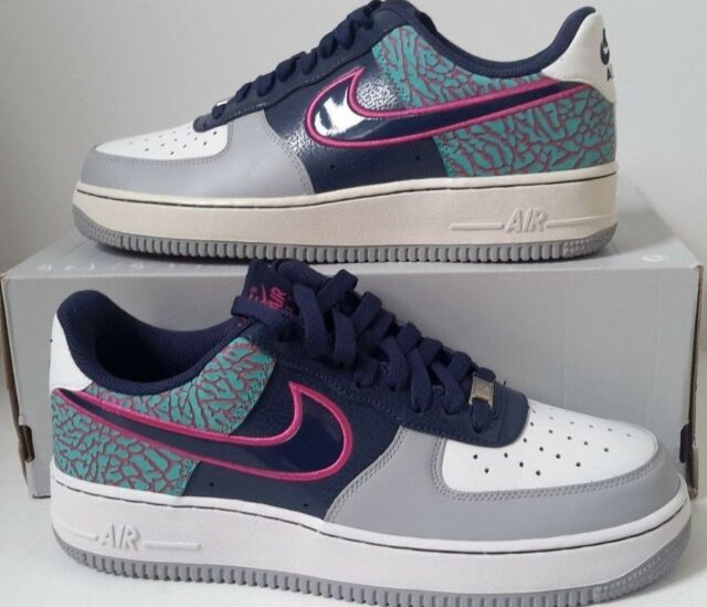 huge selection of 703d8 ea1f5 NEW Nike Air Force 1 Low Midnight Navy Fusion Pink White SZ 9 ( 488298-