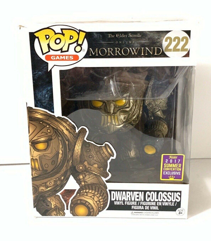 Funko Pop Elder Scrolls III Dwarven Colossus oversized personaggio 15cm OVP Exclusive