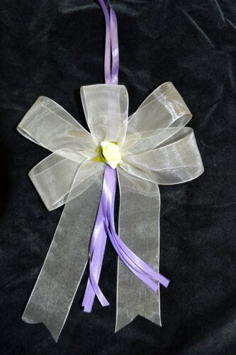 Boucles autoschleifen autoschmuck Crème-Lilas Mariage 10 excl