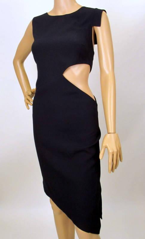 NEW MAXAZRIA BY BCBG CUTOUT ASYMMETRICAL DRESS M