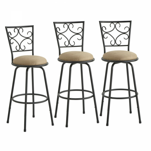 Enjoyable Modern Contemporary Counter Height Swivel Adjustable Bar Stools Set Of 3 Dining Andrewgaddart Wooden Chair Designs For Living Room Andrewgaddartcom