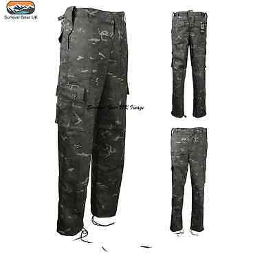 Army Military 7-8 Years BTP Black Childrens Kids Camoulage Trousers