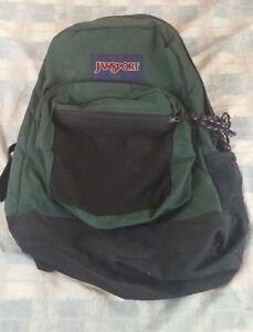 wholesale dealer 3085e 76d16 Image is loading dark-green-vintage-90-039-s-jansport-backpack-