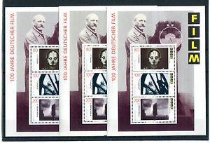 Bund-Block-33-postfrisch-3-Stueck-1815-1817-BRD-100-Jahre-deutscher-Film-MNH