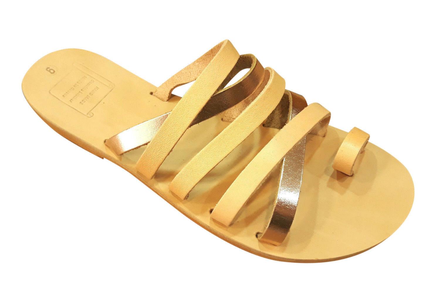Sandalias de Mujer Gladiador Romano Romano Romano Antiguo Griego Hecho a Mano Cuero Genuino Zapatos Talla  autorización