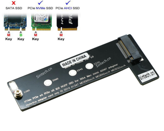 Sintech M.2 NGFF NVMe SSD Card for Upgrade Mac Mini Late 2014  A1347 MEG Series
