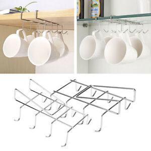 Image Is Loading Stainless Steel Kitchen Rack Hanging Coffee Tea Cup
