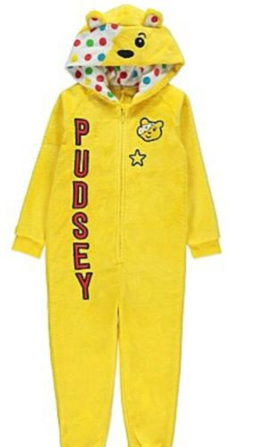Offcial Children In Need Pudsey Bear fancy dress up costume BNWT Ages 7-14 Years