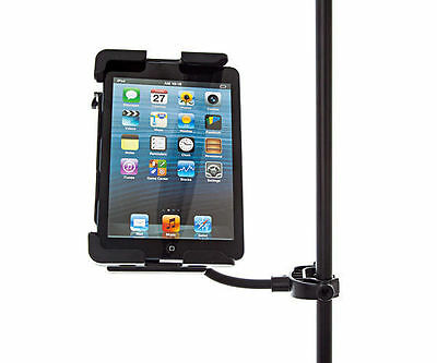 Music Microphone Stand Clamp Mount + Strong Slim Holder for iPad Mini 2 Retina