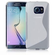 Premium chiara in Silicone Gel S-Line Wave Design Custodia Cover per Samsung S6 bordo