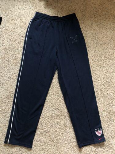Vintage 1990s 2000s Nike Team USA Track Pants, Blu