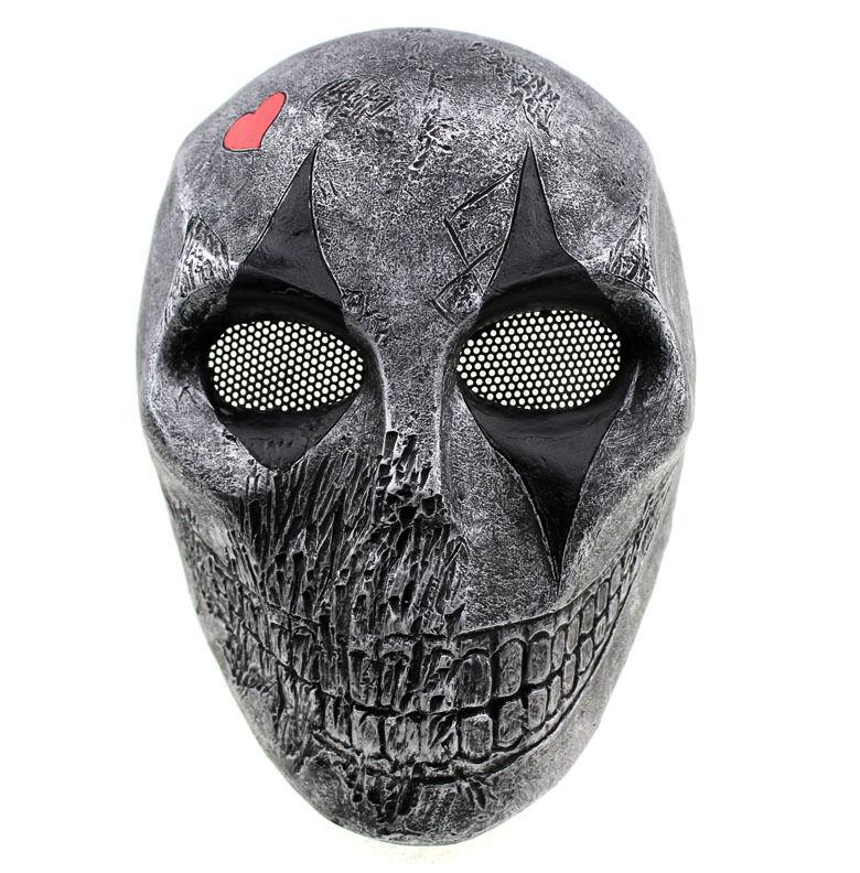 NEW Fiberglass Resin Mesh Eye Airsoft Paintball Full Prossoection Clown Skull Mask