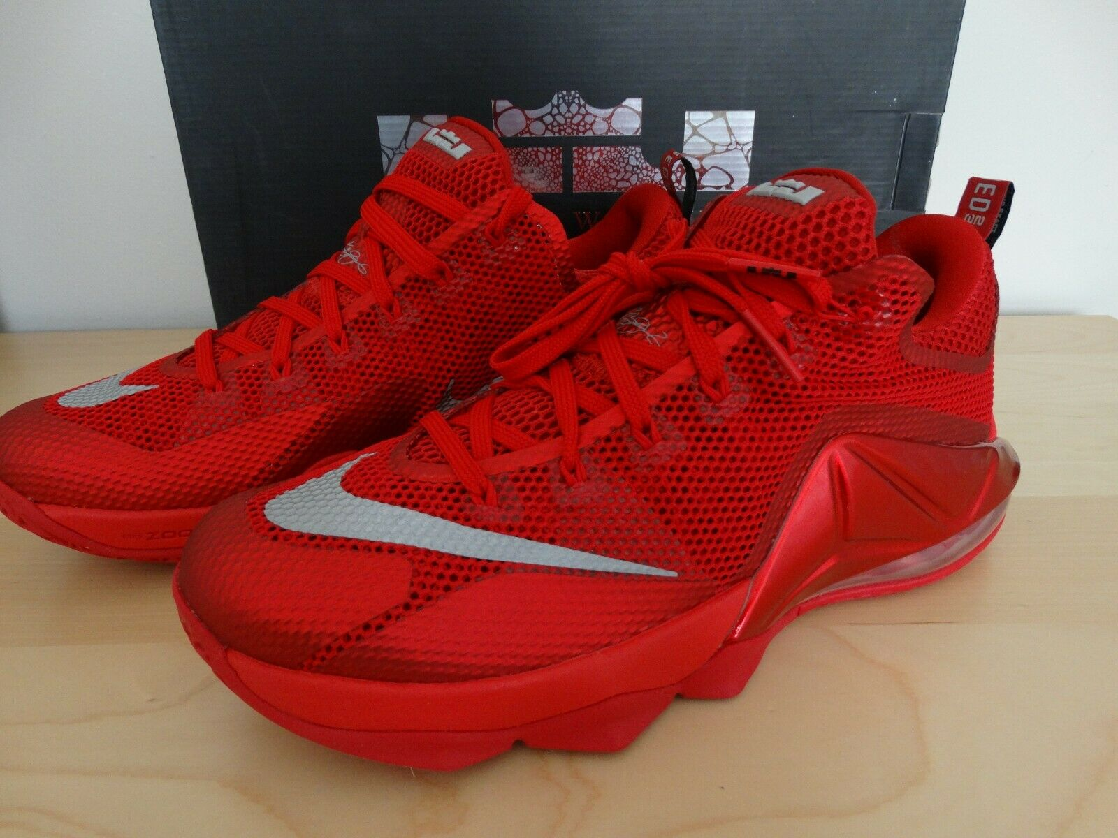 separation shoes 8351a a67e2 NIKE LEBRON LEBRON LEBRON JAMES 12 XII LOW, NEW IN BOX MEN S SIZE 10.5 RED
