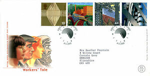 4-MAY-1999-WORKERS-TALE-ROYAL-MAIL-FIRST-DAY-COVER-BELFAST-SHS-w