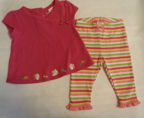 GYMBOREE 3-6 Month Cute as a Mouse Short Sleeve Shirt, Stripe Pant OUTFIT NWT