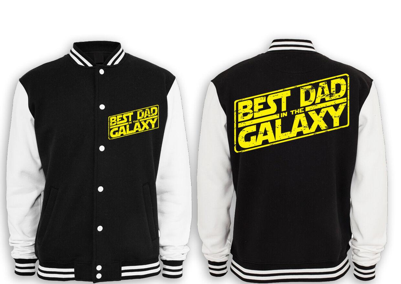 Best Dad In The Galaxy Prem. College Giacca verdetto di Padre Papà Festa del papà Compleanno