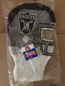 463829ef5a7 vtg Oakland Raiders game face winter ski mask beanie hat cap ...