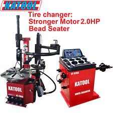 Katool Combo Tire Changer And Wheel Balancer 20hp Motor Bead Seater Assist Arm