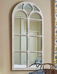 Park Designs Shabby Chic Distressed White Wood Arched