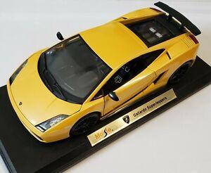 Maisto-Lamborghini-Gallardo-Superleggera-1-18-Edicion-Especial-coche-deportivo-Amarillo