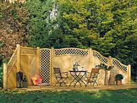 Lärche Sichtschutzzaun Turin Sichtschutz Gartenzaun Windschutz Zaun Holzzaun