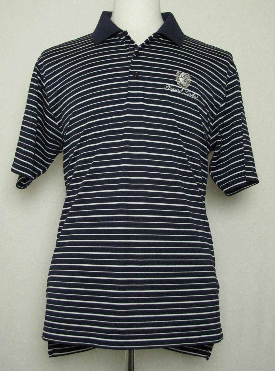 Adidas ClimaLite Mens Μαύρο Αιγέ Royal Λέικ Γκολφ Λέσχη Polo Shirt Medium