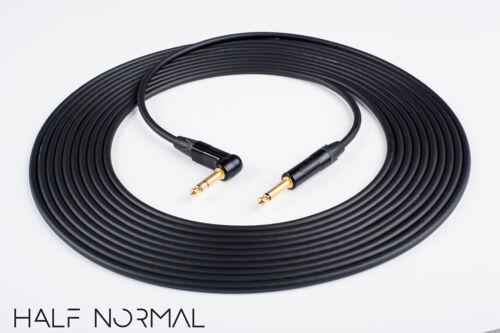 "25/' Mogami 2534 Quad Balanced Cable Neutrik Gold 1//4/"" 90 TRS to 1//4/"" TRS Black"