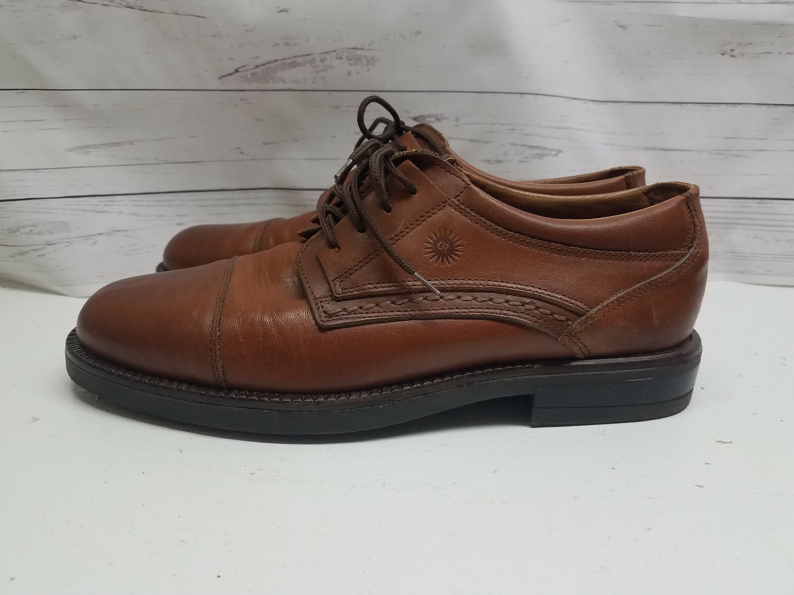 Mens Italian Leather Casual Dress shoes 8.5 D US