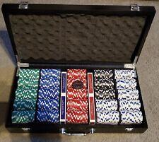 World Series of Poker: 500 Casino-Quality Chip Set Black Wood Briefcase (NO BOX)