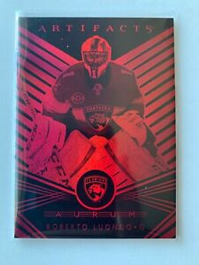 2019-20 Robert Luongo UD Artifacts Aurum /99 Card Florida Panthers #A-7 MINT