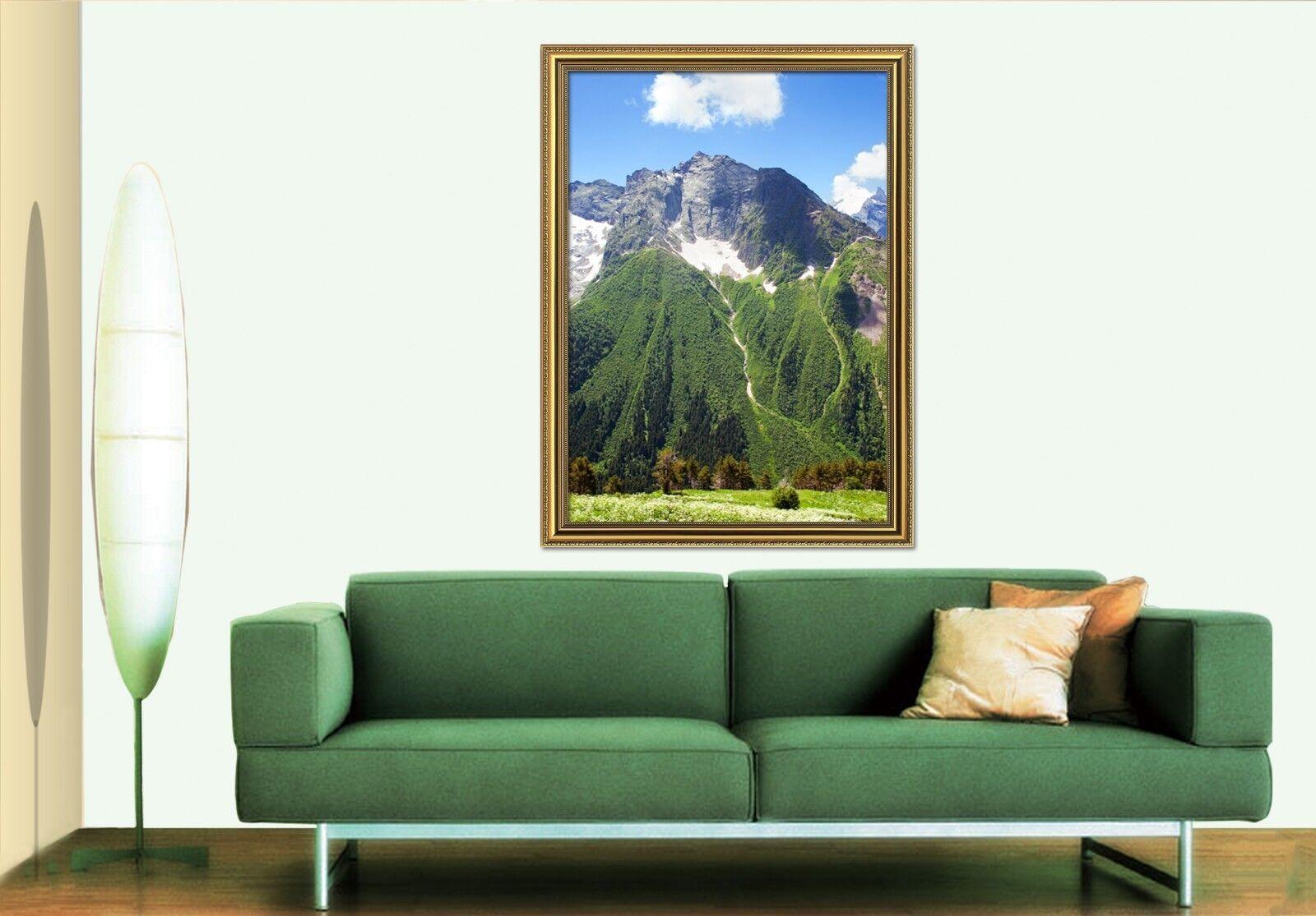 3D Mountain Forest 6 Framed affiche accueil Decor impression Painting Art AJ AU
