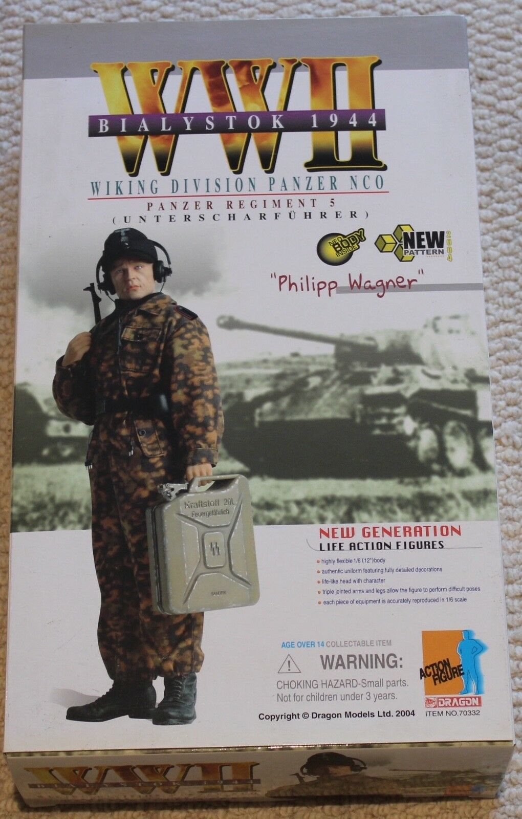 Dragon Action Figure 1/6 ww11 tedesco Phillip Wagner 12  in scatola ha fatto Cyber HOT Toy