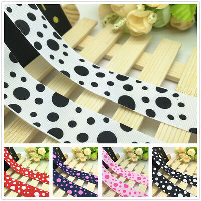 "DIY 1-10 yards 1 /""25MM Floral grosgrain ribbon Hair bow Ribbon sewing"