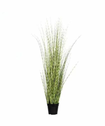 Blooming Artificial 120cm Zebra Grass Variegated Green Foliage Grass Plants H