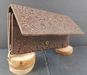 Exclusive-Designer-Damen-Leder-Geldboerse-Portemonnaie-Gross-Brieftasche-Portmonee