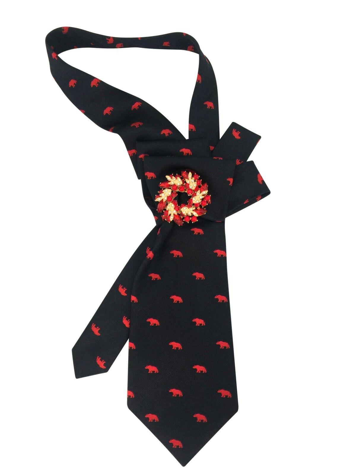 Tie women's Silk Italy. Collar necklace necktie cravat Hand-made