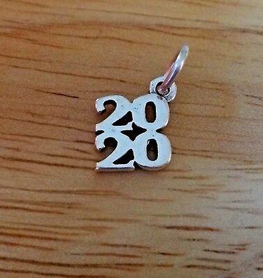 Sterling Silver 32x7mm College High School Graduation Year 2019 Vertical Charm
