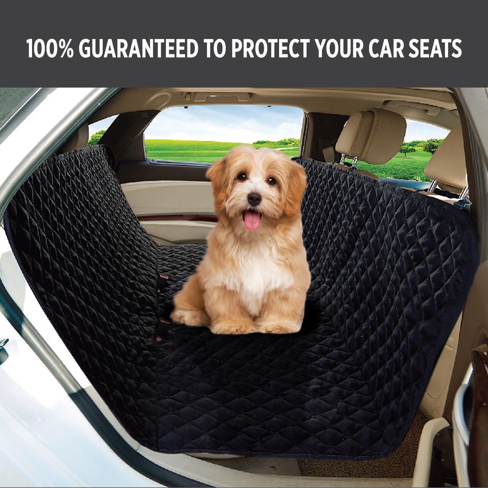 UK Pet Car Seat Cover Dog Safety Mat Cushion Rear Back Protector Hammock M2