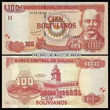 BOLIVIA 100 BOLIVIANOS 1986 ( 2012) UNC P 241 PREFIX I