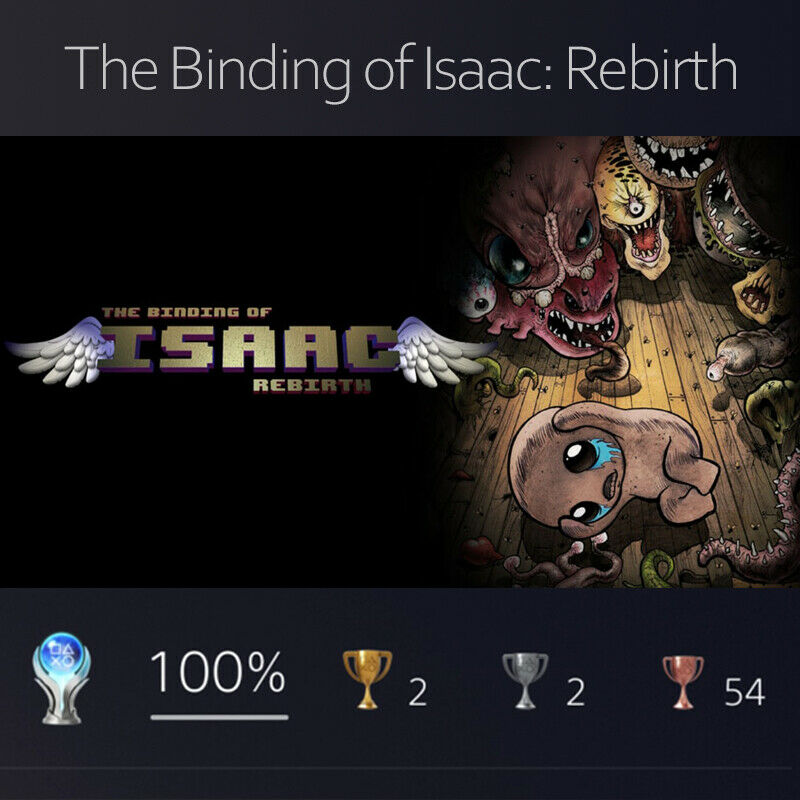The Binding of Isaac: Rebirth PLATINUM Trophy Proxy PS4 PS5