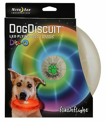 Nite Ize Dog Discuit Flashflight Disco LED - Light-up Frisbee Disc FFDD-07-R8