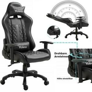 Gamer Stuhl Gaming Sessel Bürostuhl Schreibtischstuhl Drehstuhl Sportsitz 150KG