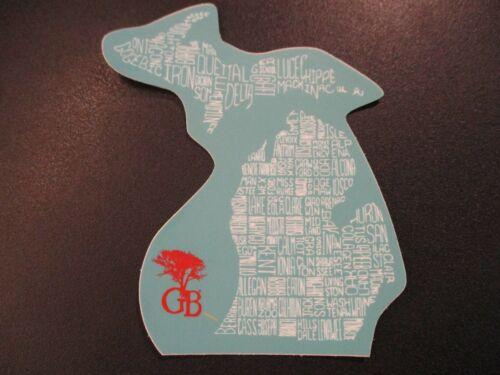 GREENBUSH BREWING Brother Benjamin Michigan map STICKER decal craft beer brewery