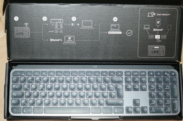 Logitech MX Keys Bluetooth QWERTZ Tastatur - Graphit neuwertig mit Verpackungssc